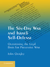 The Six-Day War and Israeli Self-Defense (eBook)